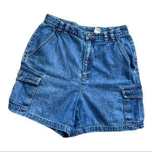 LIZ CLAIBORNE Lizwear Petite jean shorts 4P
